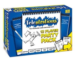 TELESTRATIONS -  12 PLAYERS PARTY PACK ! (ENGLISH)