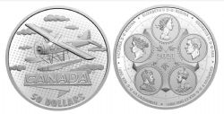 THE FIRST 100 YEARS OF CONFEDERATION -  CANADA TAKES WING -  2021 CANADIAN COINS 03