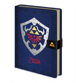 THE LEGEND OF ZELDA -  SHIELD NOTEBOOK - BLUE