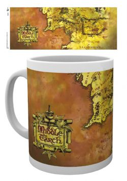 THE LORD OF THE RINGS -  MIDDLE EARTH MAP MUG - WHITE