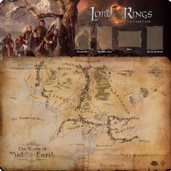THE LORD OF THE RINGS : THE CARD GAME -  FELLOWSHIP 1-4 PLAYER PLAYMAT