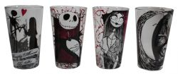 THE NIGHTMARE BEFORE CHRISTMAS -  SET OF 4 GLASSES (16 OZ.)