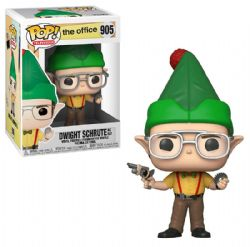 THE OFFICE -  POP! VINYL BOBBLE-HEAD OF DWIGHT SCHRUTE AS ELF (4 INCH) 905