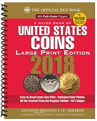 THE OFFICIAL RED BOOK -  A GUIDE BOOK OF UNITED STATES COINS 2018 (71TH EDITION) - SPIRAL