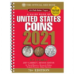 THE OFFICIAL RED BOOK -  A GUIDE BOOK OF UNITED STATES COINS 2021 (74TH EDITION) - SPIRAL
