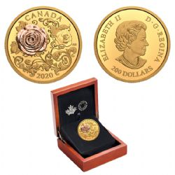 THE QUEEN ELIZABETH ROSE -  2020 CANADIAN COINS