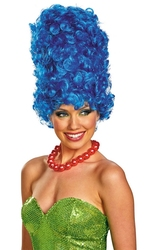 THE SIMPSONS -  MARGE DELUXE WIG - BLUE (ADULT)