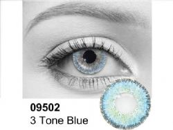 THEATRICAL CONTACT LENSES -  3 TONES BLUE - BLUE AND BLACK (90 DAYS) 09.502