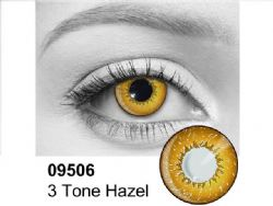 THEATRICAL CONTACT LENSES -  3 TONES HAZEL (90 DAYS) 09.506
