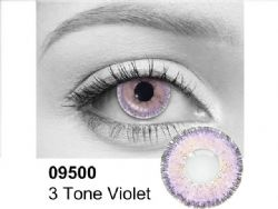 THEATRICAL CONTACT LENSES -  3 TONES VIOLET- VIOLET AND BLACK (90 DAYS) 09.500