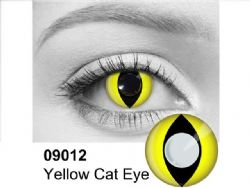 THEATRICAL CONTACT LENSES -  CAT - YELLOW (90 DAYS) 09.012