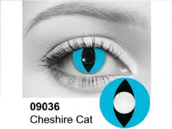 THEATRICAL CONTACT LENSES -  CHESHIRE CAT - BLUE AND BLACK (90 DAYS) 09.036