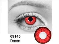 THEATRICAL CONTACT LENSES -  DOOM - RED AND BLACK (90 DAYS) 09.145