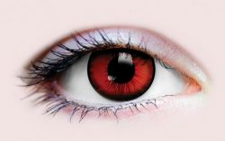 THEATRICAL CONTACT LENSES -  DRACULA I - RED AND BLACK (90 DAYS)