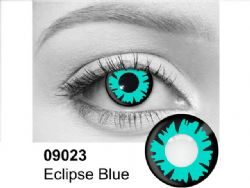 THEATRICAL CONTACT LENSES -  Eclipse Blue - Blue AND Black (90 DAYS) 09.023