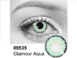THEATRICAL CONTACT LENSES -  GLAMOUR AQUA - AQUA AND BLACK (90 DAYS) 09.535