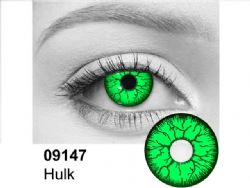 THEATRICAL CONTACT LENSES -  HULK - GREEN (90 DAYS) 09.147