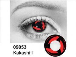 THEATRICAL CONTACT LENSES -  KAKASHI SHARINGAN - RED AND BLACK (90 DAYS) 09.053