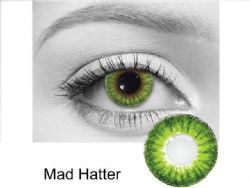 THEATRICAL CONTACT LENSES -  MAD HATTER - GREEN AND BLACK (90 DAYS)