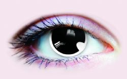 THEATRICAL CONTACT LENSES -  MANGA - BLACK AND WHITE (90 DAYS) 22949