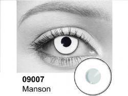 THEATRICAL CONTACT LENSES -  MANSON - WHITE AND BLACK (90 DAYS) 09.007