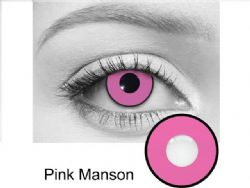 THEATRICAL CONTACT LENSES -  PINK MANSON - PINK (90 DAYS)