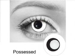 THEATRICAL CONTACT LENSES -  POSSESSED - BLACK AND WHITE (90 DAYS) 09.000