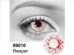 THEATRICAL CONTACT LENSES -  REAPER - RED AND WHITE (90 DAYS) 09.010