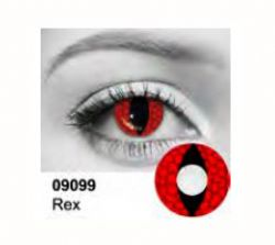 THEATRICAL CONTACT LENSES -  REX - RED (90 DAYS)