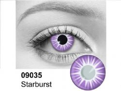 THEATRICAL CONTACT LENSES -  STARBURST - VIOLET AND WHITE (90 DAYS) 09.035