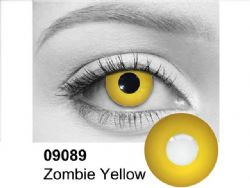 THEATRICAL CONTACT LENSES -  ZOMBIE - YELLOW (90 DAYS) 09.089