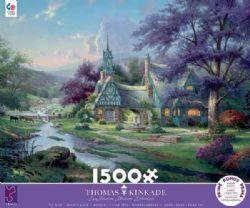 THOMAS KINKADE -  CLOCKTOWER COTTAGE (1500 PIECES)