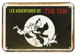 TINTIN -  AFFICHE MÉTALLIQUE
