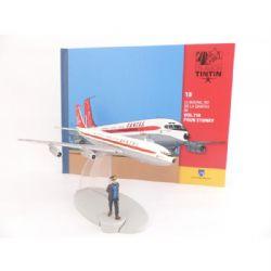 TINTIN -  LE BOEING 707 DE LA QANTAS DE
