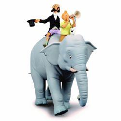 TINTIN -  RESIN ELEPHANT STATUETTE (14.6