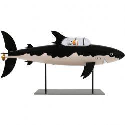 TINTIN -  SHARK SUBMARINE STATUE (30