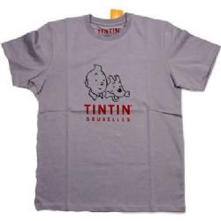 TINTIN -  T-SHIRT TINTIN ET MILOU BRUXELLES