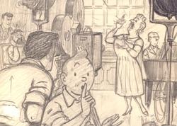 TINTIN -  THE CASTAFIORE EMERALD (SKETCH) - POST CARD