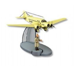 TINTIN -  THE YELLOW AIRCRAFT OF SABENA IN BLACK ISLAND -  PLANE 34