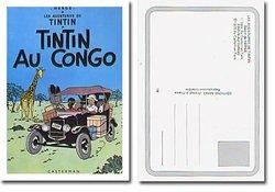 TINTIN -  TINTIN AU CONGO - CARTE POSTALE