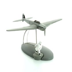 TINTIN -  USED FIGURINE - HUNTING PLANE FROM