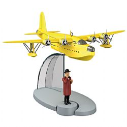 TINTIN -  YELLOW SEAPLANE