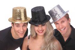 TOP HAT -  GLITTER TOP HAT