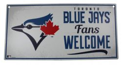 TORONTO BLUE JAYS -  PVC FANS WELCOME SIGN - 11X22