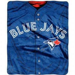TORONTO BLUE JAYS -  ROYAL PLUSH THROW (50