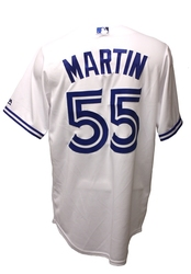 TORONTO BLUE JAYS -  WHITE REPLICA JERSEY RUSSELL MARTIN #55
