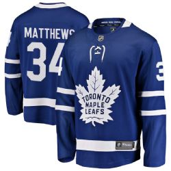 TORONTO MAPLE LEAFS -  AUSTON MATTHEWS #34 BLUE REPLICA JERSEY (YOUTH)