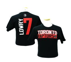 TORONTO RAPTORS -  BLACK KYLE LOWRY #7 T-SHIRT (ADULT)