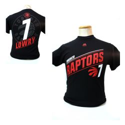 TORONTO RAPTORS -  BLACK KYLE LOWRY #7 T-SHIRT