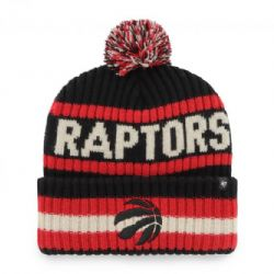 TORONTO RAPTORS -  POM BEANIE - BLACK/RED